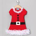 directa de la fábrica saleswholesale bebé niñas vestidos de navidad de invierno traje de navidad