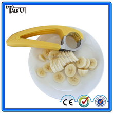 High quality kitchen gadgets easy use plastic banana chip slicer/cucumber chopper