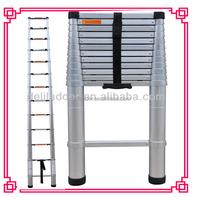 Portable & foldable aluminum telescopic ladder 3.8m (12'5 ft) EN131 certificated