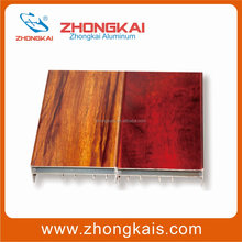 Heavy Duty Sliding Doors and Windows Wood Grain Powder Coating Aluminium Alloy Profiles