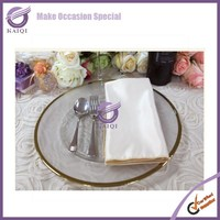 #17799 Wholesale event wedding decorations gold rim glass charger plates