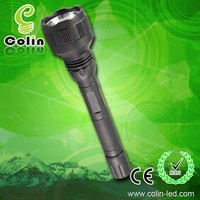 Directly recharge green led flashlight with 2x18650 li-ion batteries