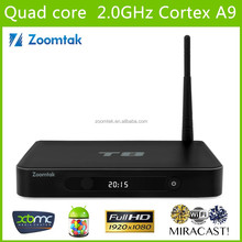 Amlogic S802 Quad Core Perfect KODI/XBMC Pre-instaled Support 4K*2K 3D Dual band WIFI Google 4k Android TV Box Zoomtak T8