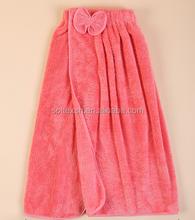 Bathroom colourful towels,Beautiful coral fleece bath skirt,High quality bath skirt with bow