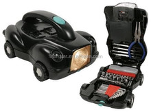 34pcs tool kit WITH flashlight,, car shaped tool set case. Flashlight too sets