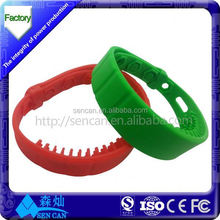 china factory ABS access control 125khz rfid TAG keyfob wristband EM4200 T5577 with many color