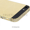 Golden cover for iPhone 5s housing for iphone 5s in gold color black top and bottom