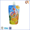 new product custom resealable plastic beverage pouch with spout
