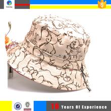 leopard printed nylon bucket hat