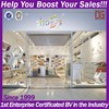 Popular custom shoe rack for shop fixtures and fittings