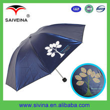 Fashion Customized 21''8k UV Changing Color Printing Promotional Wholesale Umbrella in Factory