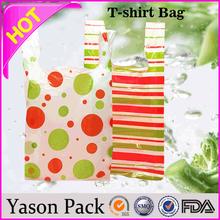 Yason plastic bags for rice packaging cheap plastic shopping bags tshirt plastic bag