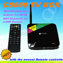 Android TV Box Quad Core CS968 Smart tv box 1080P XBMC 2G RAM 8G ROM RK3188 Receiver media player With 2MP camera