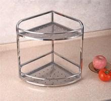 Cheap Kitchen accessories Stainless Steel Corner Storage Shelf/Rack GFR-3B