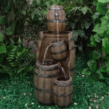 2014 Barrel Water Feature and Planeter