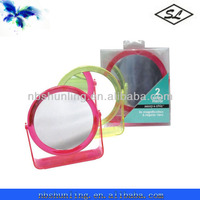 plastic double side make up mirror