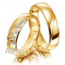 AGR0012 men ring real 18k yellow gold wedding ring with pave setting diamond