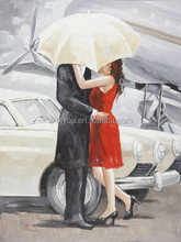 Dancing couple canvas oil painting for wall art