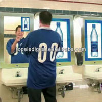 """26"""" Bathroom Advertising Tv Mirror Lcd, Wall Mounted Ad Player, totem advertising indoor"""