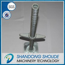 Pipe jacking machine jack base plate for building material