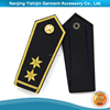 Well made military uniform button on embroidery shoulder epaulette