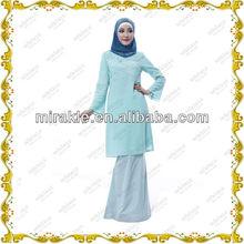 MF20669 Hot Sale Chiffon Baju Kurung design 2013 Wholesale