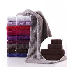 100% cotton towel plain weave jacquard solid color towel set(GB1003-tj)