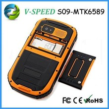 2015 High quality outdoor Rugged waterproof shockproof dustproof cell phone S09-MTK6589 chip price cell phone