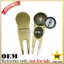 Custom logo cheap metal golf divot tools/ golf divot repair tool