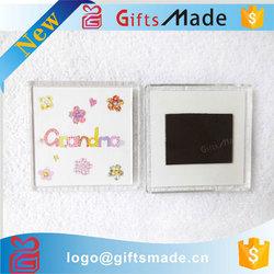 high quality photo insert blank square acrylic fridge magnet