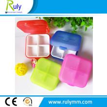 4 compartsment Pill Box/plastic medicine case