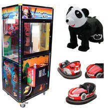 2012 plush toy animal ride coin operated claw crane machine for sell battery bumper car game machine for chindren game center