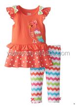 toplu çok tatlı kız markası kuş baskılı üst ve rahat zikzak pantolon tığ işi bebek giysileri