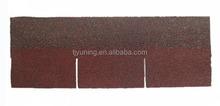 3-tab red asphalt roof shingles