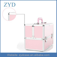Loving And Exquisite Pink Aluminum Nail Makeup Case Ladies Beauty Box ZYD-HZ82901