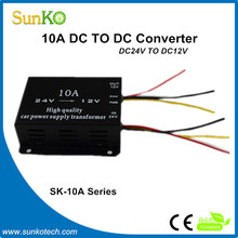 High Quality convert 24vdc to 12vdc 10a High Intelligence step up converters Good regulator switch CE Compliant SunKo Converter