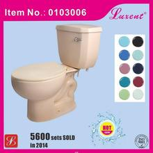 China supplie hot selling two piece ceramic toilets in red