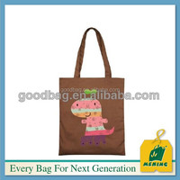 painted traveling cotton canvas bag for shopping
