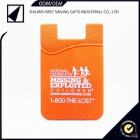 3M sticker silicone smart wallet purse/silicon back phone pouch/silicon smart wallet