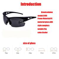 Новый 6шт безопасности УФ 400 спорт Велоспорт велосипедов велосипедные очки Очки солнцезащитные очки женщин мужчины взрослых унисекс мульти