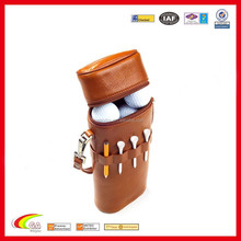 2015 Fashion Design Leather Golf Ball Carrier Bag