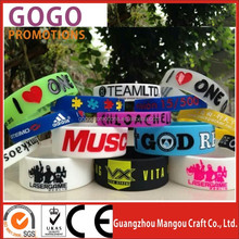 debossed with color filled silicone wristband personalized silicone bracelet, Wholesale Promotional Items Silicone Bracelet