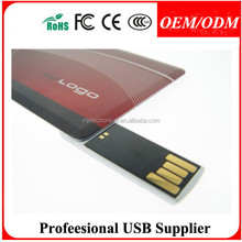 Free sample , optional logo+color+capacity Credit card usb 2.0