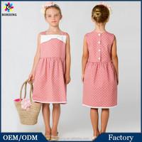 Latest Dress Designs Polk Dots Sewing Pattern Fashion Flower Kids Girls Casual Cotton Summer Dresses