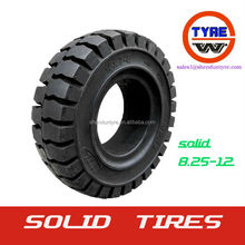 8.25-12 Forklift solid bias tire/tyres size in 12 inches made in Qingdao