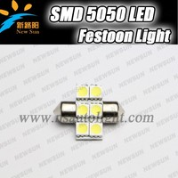 Factory wholesale Canbus festoon led car lights 5050 smd 6LEDs 27mm bulbs,auto led light