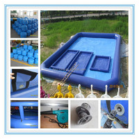 Fwulong PVC 0.55mm used large adult plastic swimming pool/bubble inflatable pool for sale