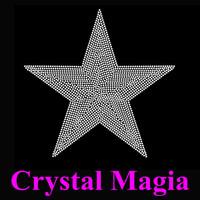 crystal star rhinestone heat transfer printing iron on glass strass motif
