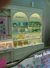Updated fashionable pink color attractive cosmetic store furniture