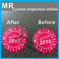 ultra destructible vinyl material custom company logo 2016 security label inspection,2016 warranty custom security sticker